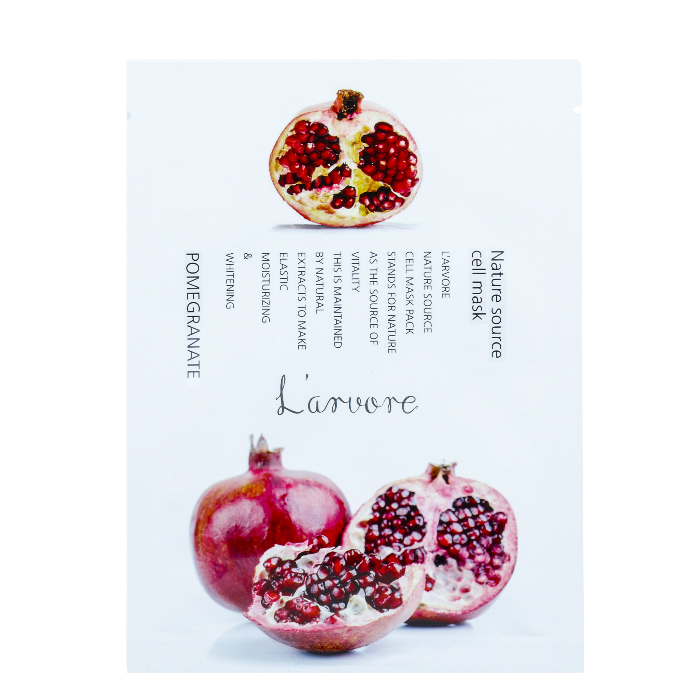 L'arvore Nature Source Cell Mask Pomegranate