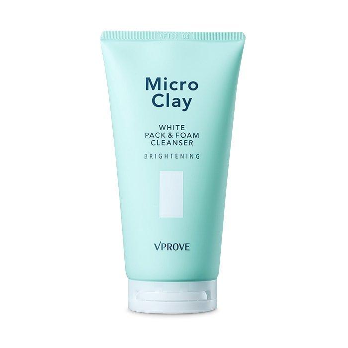 VPROVE Micro Clay White Pack & Foam Cleanser Brightening