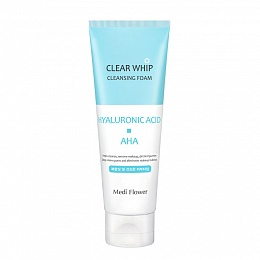 Medi Flower Clear Whip Cleansing Foam Hyaluronic Acid AHA