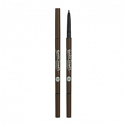 Карандаш для бровей Wonder Drawing Skinny Eye Brow 02 Dark Brown, тёмно-коричневый
