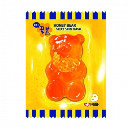 Тканевая маска с экстрактом прополиса JellyFrien Honey Bear Mask