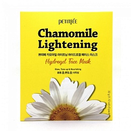 Petitfee Chamomile Lightening Hydrogel Face Mask 1pcs